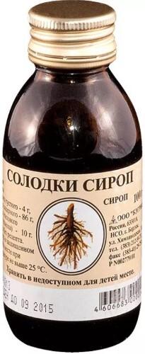 Купить СОЛОДКИ СИРОП 100,0 /ФЛОРА КАВКАЗА/ цена