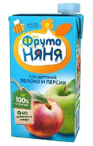 Купить Сок из яблок и персиков неосветленный 500мл цена