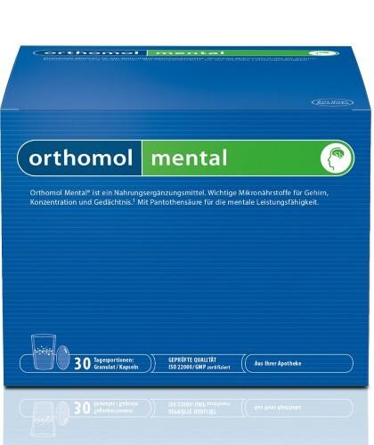 Купить Ортомоль ментал /порошок + капсулы/ курс цена