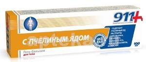 Купить 911 с пчелиным ядом гель-бальзам для суставов 100мл цена