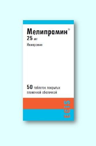 Купить МЕЛИПРАМИН 0,025 N50 ТАБЛ П/ПЛЕН/ОБОЛОЧ цена