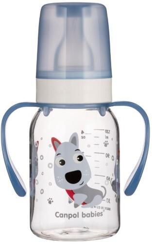 Купить Бутылочка тритановая bpa 0% с силиконовой соской 120мл 3+ cheerful animals/собачка голубой цена