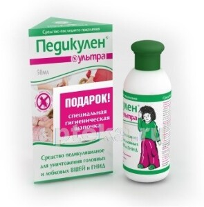 УЛЬТРА СРЕДСТВО ПЕКУЛИЦИДНОЕ 50МЛ/ЛОСЬОН+ШАПОЧКА/