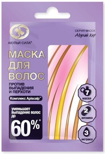 Купить Акулий жир маска для волос против выпадения и перхоти 25мл цена