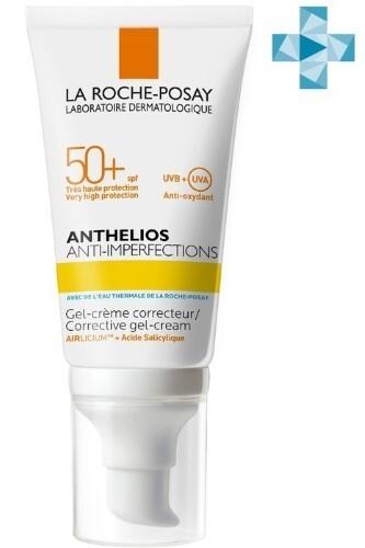 Купить Anthelios крем-гель солнцезащитный для жирной проблемной и склонной к акне кожи лица spf 50+ 50мл цена