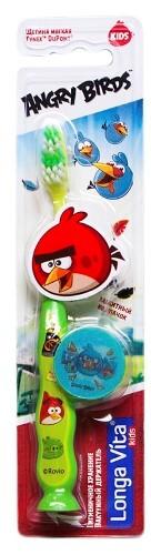 Купить For kids angry birds зубная щетка для детей от 5 лет арт ав-1 цена