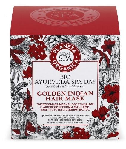 Купить Royal spa питательная маска-обертывание с аювердическими маслами для густоты волос и сияния волос 300мл цена