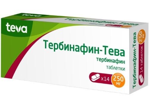 Купить ТЕРБИНАФИН-ТЕВА 0,25 N14 ТАБЛ цена