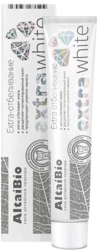 Купить Алтайбио зубная паста с активными микрогранулами экстра отбеливание 75мл цена