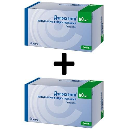 Купить Набор из 2 упаковок дулоксента 0,06 n28 капс кишечнораствор по специальной цене цена