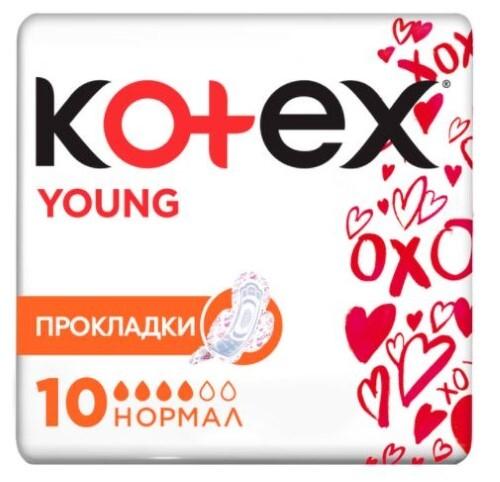 Купить KOTEX YOUNG НОРМАЛ ПРОКЛАДКИ N10 цена