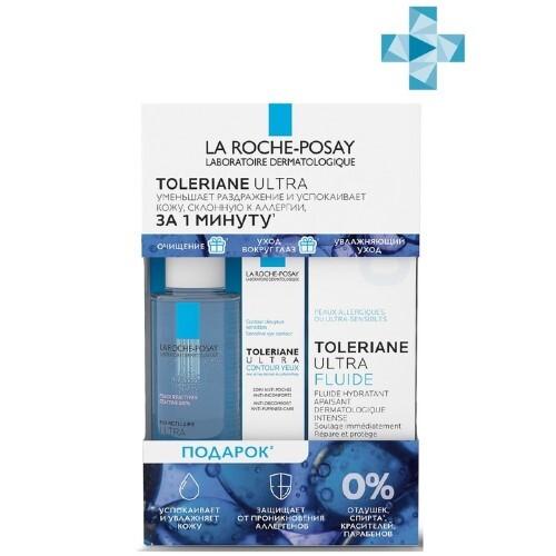 Купить Toleriane ultra флюид 40мл+мицеллярная вода ultra reactive 50мл+toleriane ultra уход для кожи вокруг глаз 2мл/набор цена