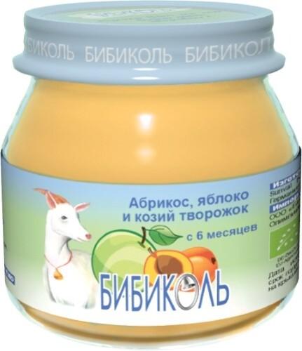 Пюре фруктово-молочное абрикос яблоко и козий творожок 80,0