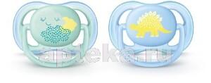 Avent пустышка силиконовая ultra air для мальчиков 0-6мес рисунок/scf344/20