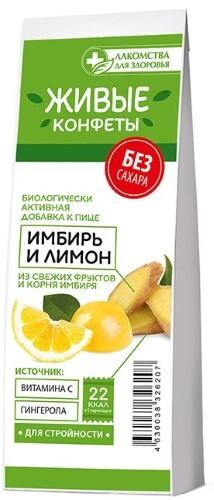 Лакомства д/здоровья лакомство мармеладное с имбирем и лимоном