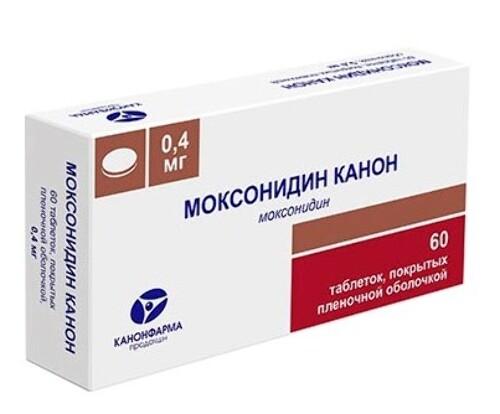 Купить Моксонидин канон 0,0004 n60 табл п/плен/оболоч/блистер цена