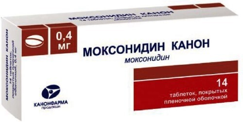 Купить Моксонидин канон 0,0004 n14 табл п/плен/оболоч цена