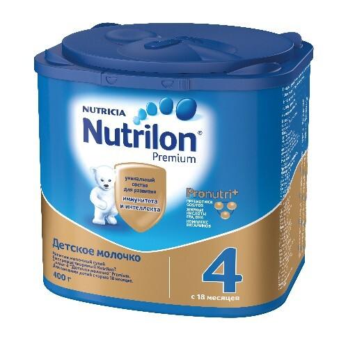 Купить NUTRILON-4 JUNIOR PREMIUM НАПИТОК СУХОЙ МОЛОЧНЫЙ 400,0 цена