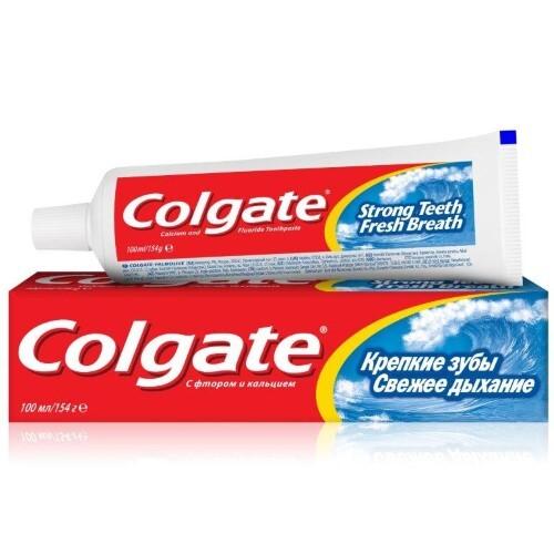 Купить Крепкие зубы свежее дыхание зубная паста 100мл цена