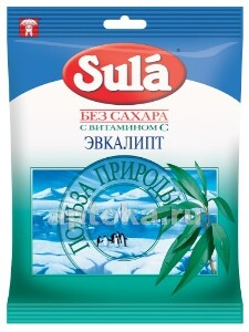 Леденцы sula б/сахара 60,0 /эвкалипт/