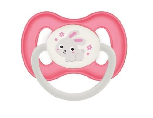 Купить Соска-пустышка латексная bunny company 0-6мес/розовый цена