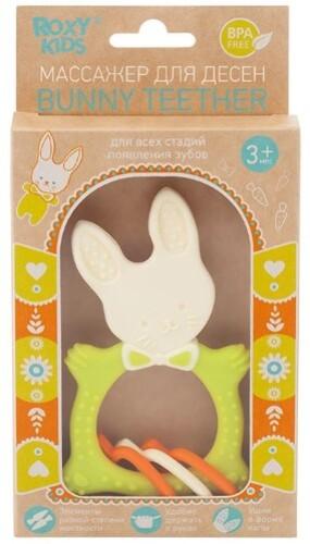 Универсальный прорезыватель bunny teether 3+/зеленый