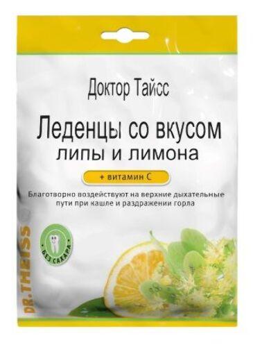 Купить Доктор тайсс леденцы с витамином с /липа и лимон/ 50,0 цена