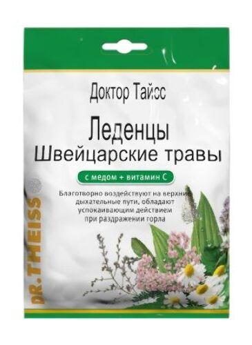 Купить Доктор тайсс леденцы с витамином с /швейцарские травы и мед/ 50,0 цена
