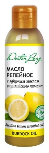 Купить Масло репейное с эфирным маслом сицилийского лимона 100мл цена