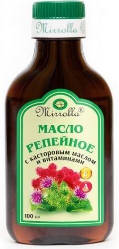 Купить Репейное масло с касторовым маслом и витаминами а и е 100мл цена