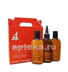 Купить Лечебный комплекс от выпадения волос /набор мини шампунь 100мл+маска 100мл+сыворотка 100мл/ цена