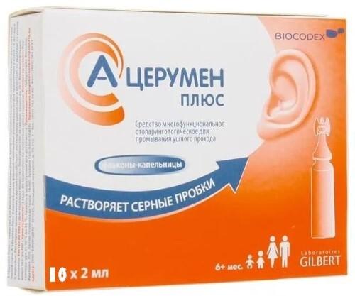 Купить А-церумен плюс ср-во д/промыв ушного прох 2мл n10 флак/кап цена