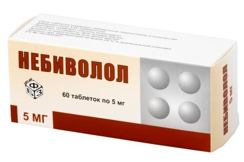 Купить НЕБИВОЛОЛ 0,005 N60 ТАБЛ /БФЗ/ цена