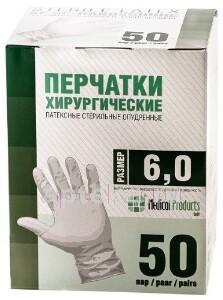 Купить Перчатки медицинские хирургические-sf латексные стерильные опудренные текстурированные n50 пар/размер 6,0 цена