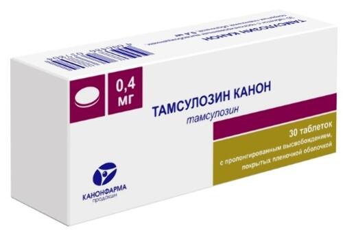 Купить Тамсулозин канон 0,0004 n30 табл пролонг высвоб п/плен/оболоч цена