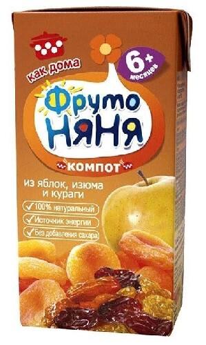 Купить Компот из яблок с экстрактом изюма и кураги 200 мл цена