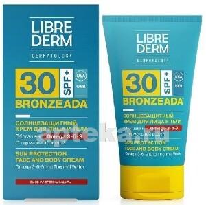 Купить Bronzeada солнцезащитный крем spf30 с омега 3-6-9 и термальной водой 150мл цена