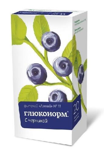 Фиточай алтай n11 глюконорм черника
