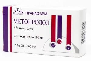Купить МЕТОПРОЛОЛ 0,1 N30 ТАБЛ /ПРАНАФАРМ/ цена