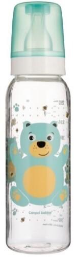 Купить Бутылочка тритановая bpa 0% с силиконовой соской 250мл 12+ cheerful animals/мишка бирюзовый цена