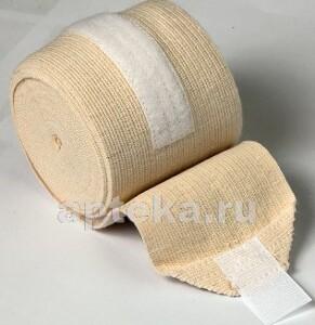 Бинт медицинский эластичный высокой растяжимости унга-вр с застежкой 3мx10см /с 305/
