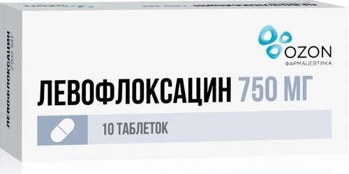 Купить ЛЕВОФЛОКСАЦИН 0,75 N10 ТАБЛ П/ПЛЕН/ОБОЛОЧ/ОЗОН цена