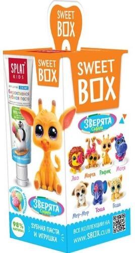 Купить Сплат kids зубная паста фруктовое мороженое 20мл/с игрушкой в наборе свит бокс/ цена