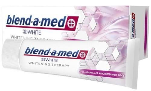 Купить BLEND-A-MED ЗУБНАЯ ПАСТА 3D WHITE WHITENING THERAPY ОТБЕЛИВАНИЕ ДЛЯ ЧУВСТВИТЕЛЬНЫХ ЗУБОВ 75МЛ цена