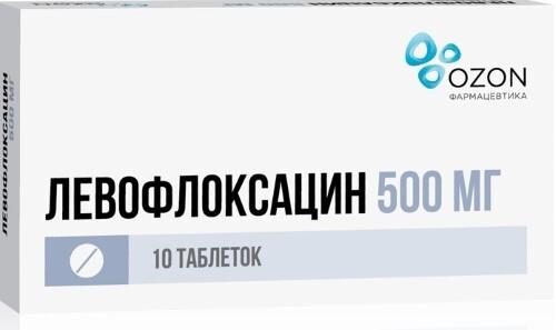 Купить ЛЕВОФЛОКСАЦИН 0,5 N10 ТАБЛ П/О цена
