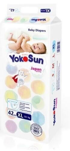 Купить YOKOSUN ПОДГУЗНИКИ ДЕТСКИЕ РАЗМЕР XL /13+КГ N42 цена