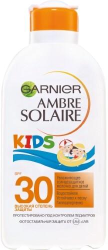 Купить GARNIER AMBRE SOLAIRE МОЛОЧКО СОЛНЦЕЗАЩИТНОЕ УВЛАЖНЯЮЩЕЕ ДЛЯ ДЕТЕЙ KIDS SPF 30 200МЛ цена