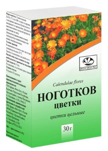 Купить НОГОТКОВ ЦВЕТКИ ИЗМЕЛЬЧЕННЫЕ 30,0/ФИТО-БОТ/ цена