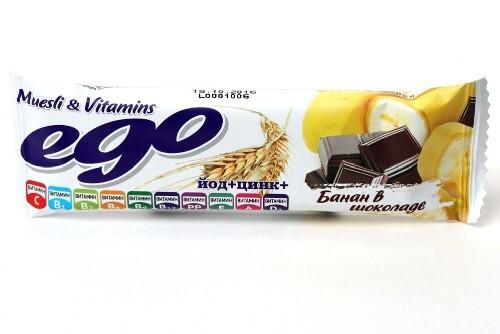 Купить Батончик-мюсли эго банан с йодом и витам в молоч шокол цена