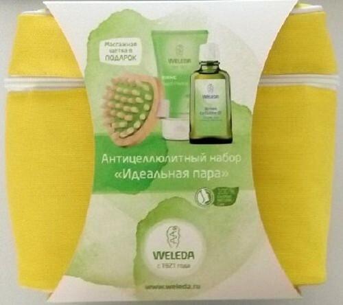 Купить Набор антицеллюлитный березовое масло 100мл+пилинг150мл+щетка+сумочка цена